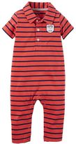 Carter's Baby Boy Striped Polo Coverall