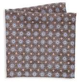 Saks Fifth Avenue COLLECTION Medallion Houndstooth Pocket Square