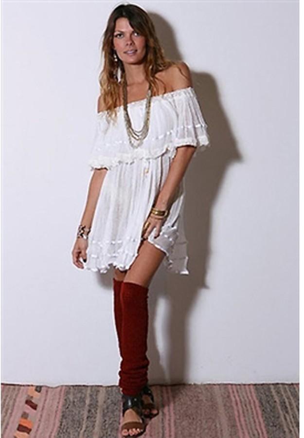 Jens Pirate Booty Senorita Mini Dress in White as Seen On Vanessa Hudgens