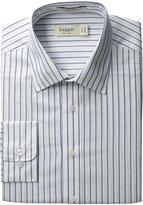 Haggar Men's Regular Fit Poplin Long Sleeve Pattern Dress Shirt