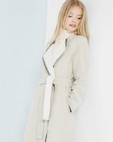 Ted Baker Contrast collar wrap coat