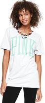 PINK Strappy Campus Tee