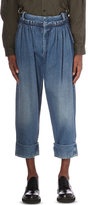 J.w. Anderson Loose-fit Cropped Denim Trousers