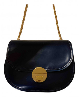 Coccinelle Navy Patent leather Handbags