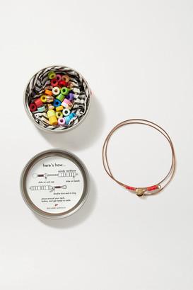 Roxanne Assoulin Candy Diy Cord, Enamel And Gold-tone Bracelet Kit - Red