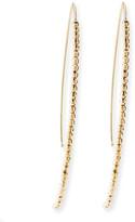 Mizuki 14k Gold Beaded Marquise Drop Earrings
