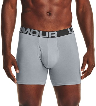 Under Armour Men's 3-pack Charged Cotton Stretch 6-inch Boxerjock Boxer Briefs