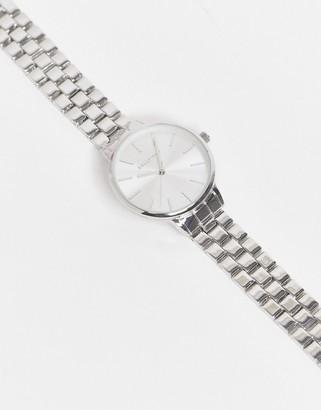 Bellfield linked bracelet watch in silver