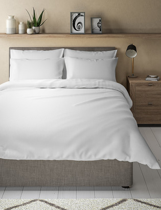 Marks and Spencer Cotton Mix Seersucker Bedding Set