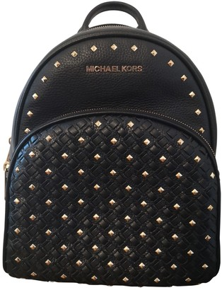 Michael Kors Abbey Black Leather Backpacks