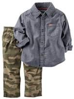 Carter's Boys Baby 2 Piece Playwear Pant Set Denim Camo 12 Months