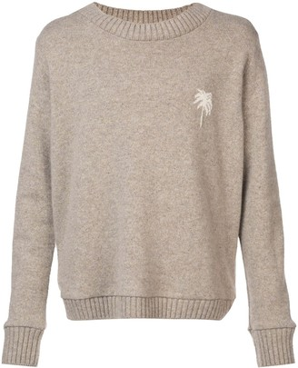 The Elder Statesman Palm Tree Sweater