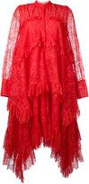 Erdem long sleeve lace dress - women - Silk/Polyester - 10