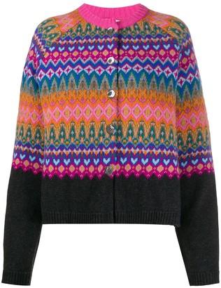 Semi-Couture Norwegian-style pattern cardigan