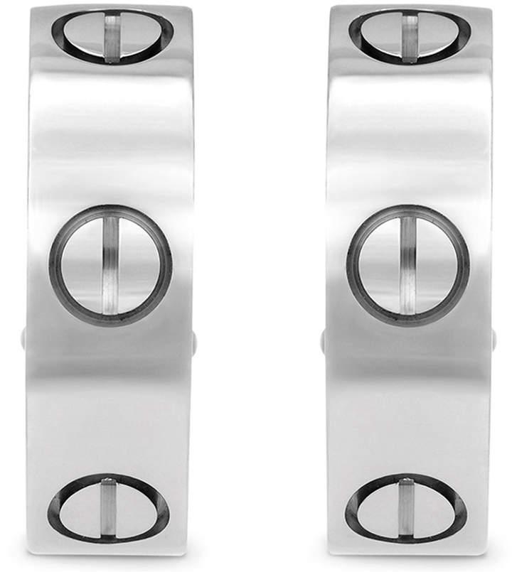 Cartier Estate 18K White Gold Love Earrings