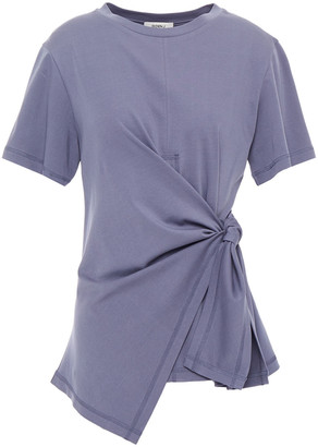 GOEN.J Asymmetric Knotted Cotton-jersey Top