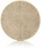 R & Y Augousti Shagreen-Covered Wood Coaster