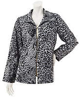 George Simonton As Is Fully Lined Animal Print Jacket w/ Paillettes