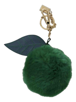 Dolce & Gabbana Green Fur Bag charms