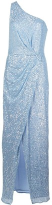 Jay Godfrey One-Shoulder Sequin Gown