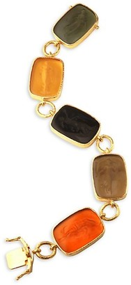 Elizabeth Locke Venetian Glass Intaglio 19K Yellow Gold 'Muse' Bracelet