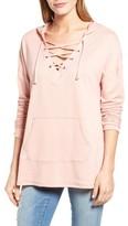 Women's Caslon Lace-Up Hooded Sweatshirt
