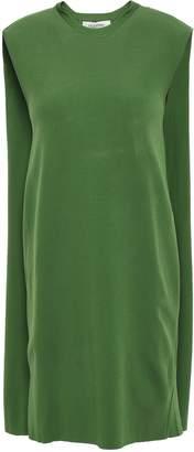 Valentino Cape Overlay Ponte Mini Dress