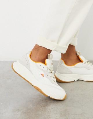 Ellesse Massello mesh trainers in white and orange