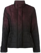 Burberry Women's Burgundy/black Polyester Down Jacket.