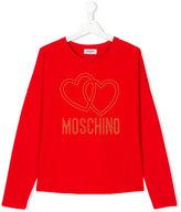 Moschino Kids - logo heart top - kids - Cotton/Spandex/Elastane - 14 yrs