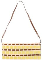Miu Miu Woven Leather Shoulder Bag