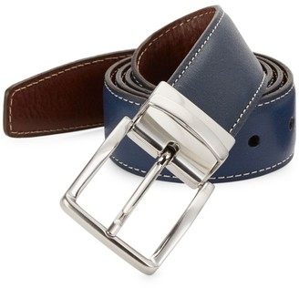 Saks Fifth Avenue COLLECTION Contrast Stitch Reversible Leather Belt