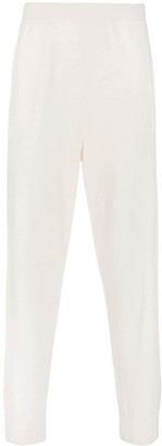 Jil Sander High Waisted Fine Knit Track Trousers