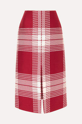Gabriela Hearst Checked Wool-blend Midi Skirt - Red