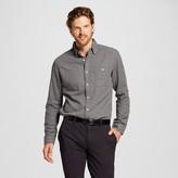 Merona Men's Double Weave Button Down Shirt Gray
