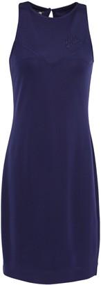 Love Moschino Embroidered Stretch-jersey Mini Dress