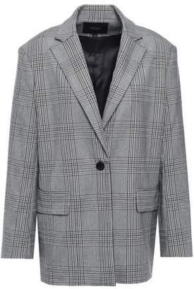 Maje Prince Of Wales Checked Woven Blazer
