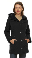 Gallery Women's Hooded Quilted Zip-Front Jacket