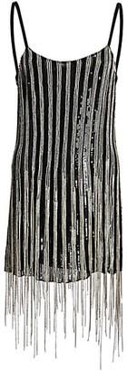 Amen Embellished Fringe Mini Dress
