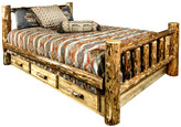 Montana Woodworks Glacier Country Collection Bed With Storage, King