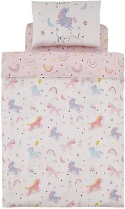 Catherine Lansfield Magical Unicorns Cotton Rich Duvet Cover