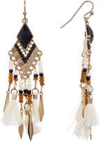 Shashi Marel Beaded Drop Chandelier Earrings
