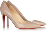 Christian Louboutin The Pigalle 85 glossed-leather pumps