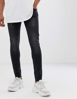 Cheap Monday Him Spray super skinny jeans in washed black