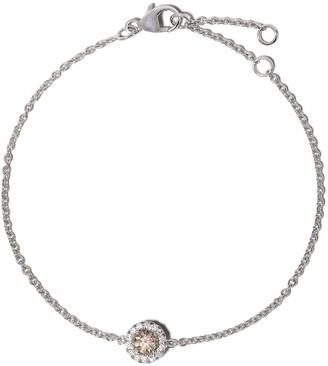De Beers 18kt white gold Aura fancy coloured diamond bracelet