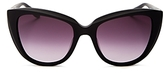 Moschino Cat Eye Sunglasses with Clip-On Earrings, 54mm