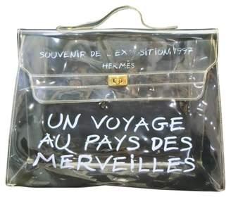 Hermes Kelly 40 White Leather Handbags