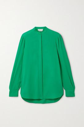 Alexander McQueen Silk-georgette Blouse - Jade