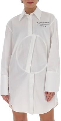 Off-White Asymmetric Patch Shirt Dress