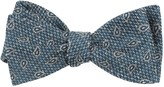 The Tie Bar Teal Pine Lake Paisley Bow Tie